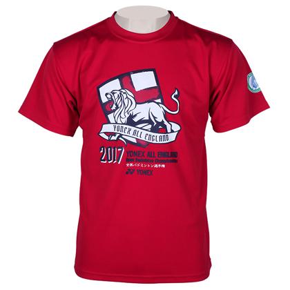 尤尼克斯YONEX T恤衫 YOB17001EX 男款 红色(全英公开赛纪念T恤衫)
