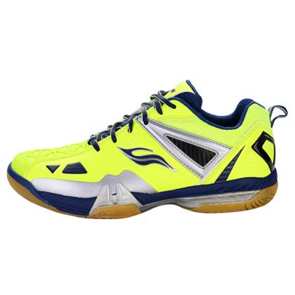 波力Bonny 羽毛球鞋 碳装甲631Y 荧光黄/蓝(碳装甲设计,包裹更出色)