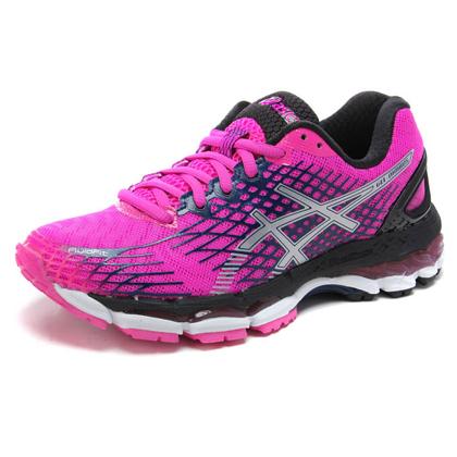 亚瑟士ASICS 女款跑步鞋 NIMBUS17 洋红色(优个周年庆)