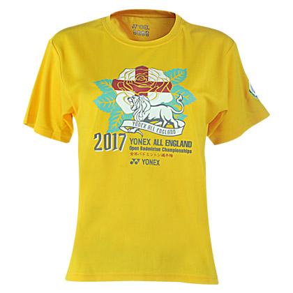 尤尼克斯Yonex T恤衫 YOB17002EX 女款 黄色(全英公开赛纪念T恤衫)