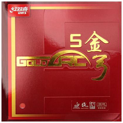 红双喜 金弓5 全面型德系涩性反胶套胶 中厚,弹性好,又耐用,兼具德套和红大妈双重优点!