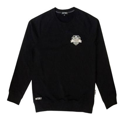 蝴蝶BUTTERFLY乒乓球服 蝴蝶WSW-519-02 黑色长袖卫衣