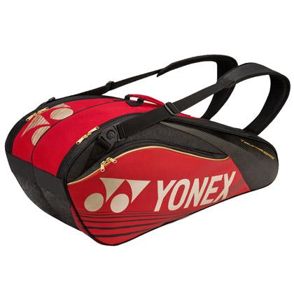 尤尼克斯YONEX羽毛球包 BAG-9629EX-001九支装 红色