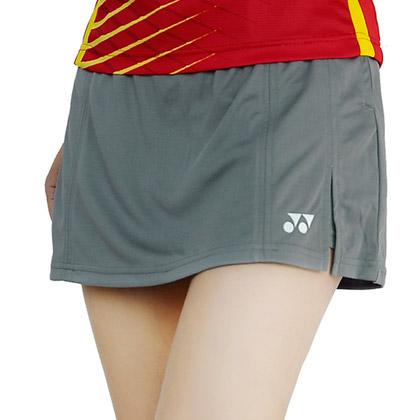 尤尼克斯YONEX羽毛球短裙 26006CR-247女款 中灰