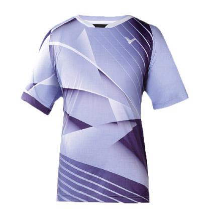 胜利VICTOR羽毛球短袖T恤T-6005JF紫藤/深海蓝 中性款