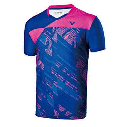 胜利VICTOR短袖T恤T-70000F  中性款 冲浪蓝