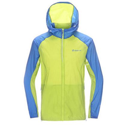 探路者 男款户外皮肤衣 防晒衣 沙滩衣 KAEE81313-D34X 男式 柠檬绿
