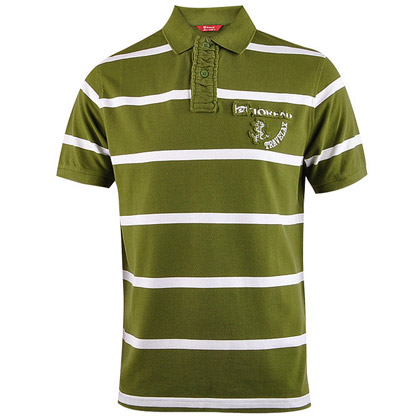 探路者Toread 短袖T恤 TAJB81562-3 男式 绿白条纹