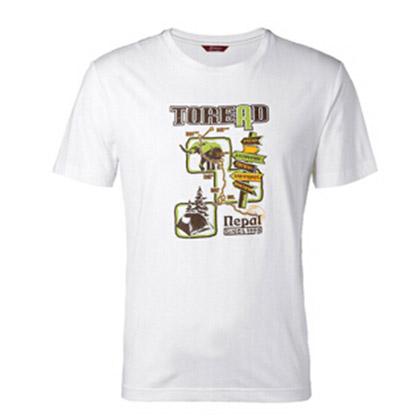 探路者Toread 短袖T恤 TAJE81704-G24X 男式 漂白