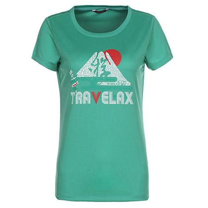 探路者Toread 短袖功能T恤 TAJD82681-D38X 女式 碧绿