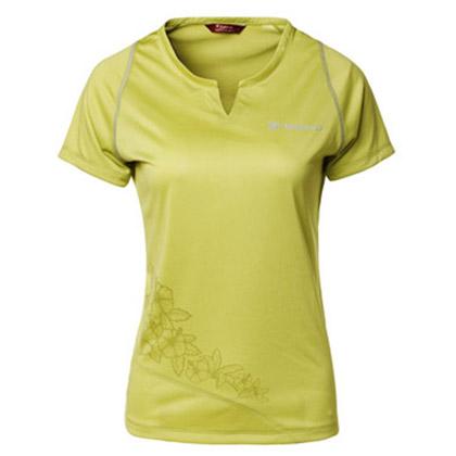 探路者Toread 速干短袖T恤 TAJC82654-D04X 女式 青果绿