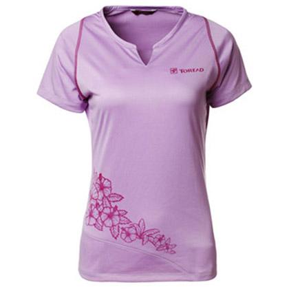 探路者Toread 速干短袖T恤 TAJC82654-E19X 女式 丁香紫