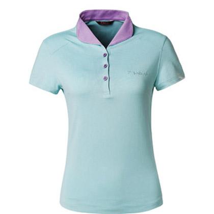 探路者Toread 速干短袖T恤 TAJC82691-C13E 女式 粉蓝