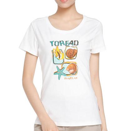 探路者Toread 短袖T恤 TAJE82707-G24X 女式 漂白