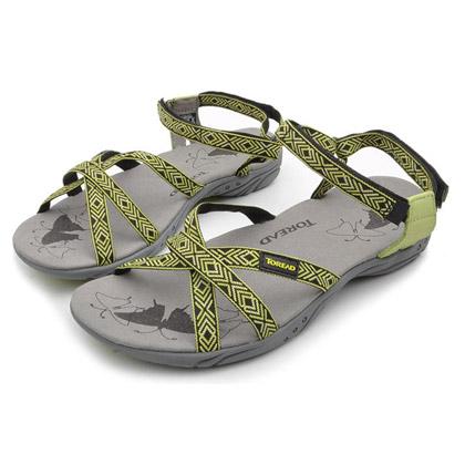 探路者Toread 沙滩鞋 TFGB82011-1 女式 青果绿