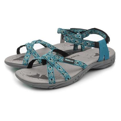 探路者Toread 沙滩鞋 TFGB82011-3 女式 天空蓝