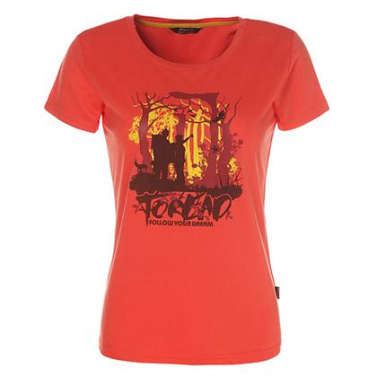 探路者Toread 短袖功能T恤 TAJC82292-A20X 女式 西瓜红