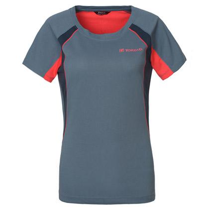 探路者Toread 短袖速干T恤 TAJC82244-C26C 女式 青蓝灰