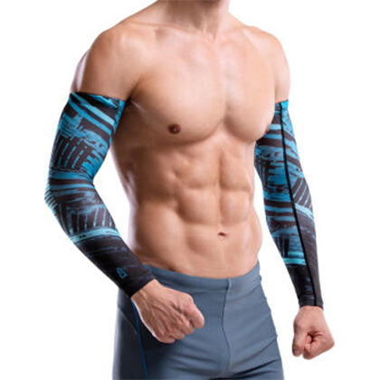 AQ护具 护臂 束臂套 F28002 蓝黑色(一对装)