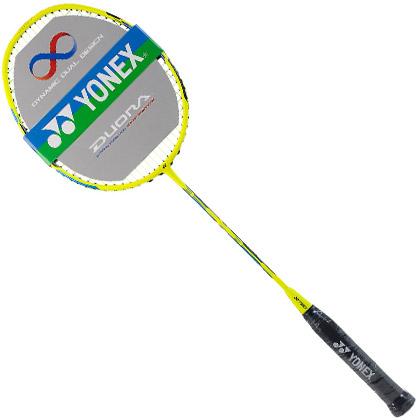 尤尼克斯YONEX羽毛球拍 DUORA55/双刃55 闪黄色(双面异框,全新入门级控制型利器)