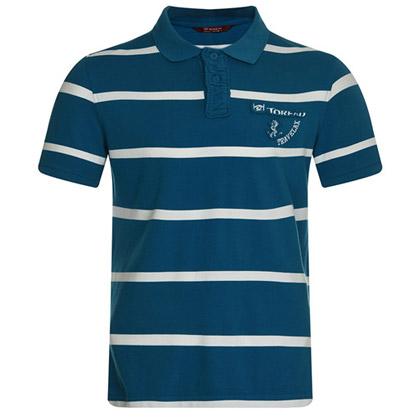 探路者Toread 短袖T恤TAJB81562-1 男式-蓝白条纹