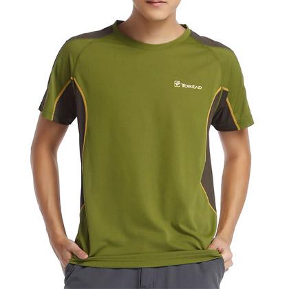 探路者Toread 短袖速干T恤TAJC81206-D02F 男式-芥绿