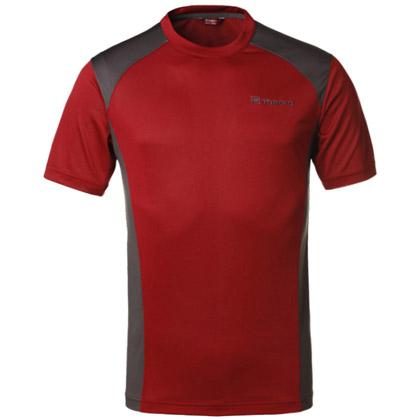 探路者Toread 速干短袖T恤 TAJC81644-A07G 男式-锈红