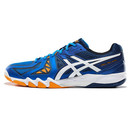爱世克斯 亚瑟士ASICS 羽毛球鞋 R506Y-3901 男款 蓝色 白色 海军蓝