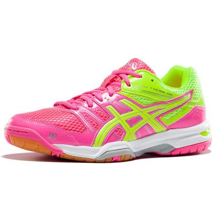 爱世克斯 亚瑟士ASICS 羽毛球鞋 GEL-ROCKET B455N-2007 女款 黄粉色