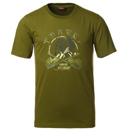 探路者Toread 短袖T恤TAJC81659-D02X 男式-芥绿