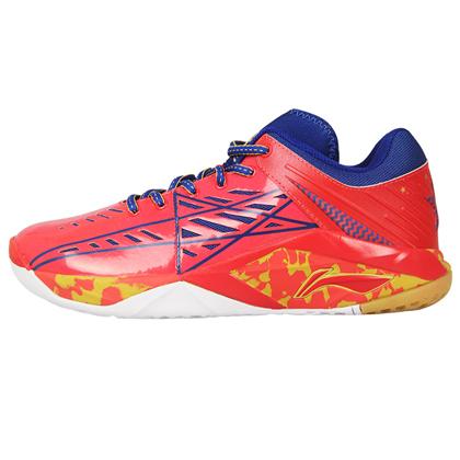 李宁 荣耀-TD 羽毛球鞋 AYTL065-4 烈焰红法瓷蓝