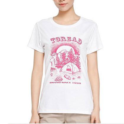 探路者Toread女式短袖T恤 KAJE82347-G24X 漂白色