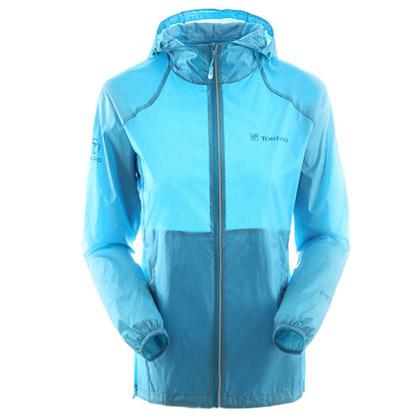探路者 女式专业户外皮肤衣 防晒衣 防紫外线 沙滩衣 TAEC82138-C10C 天空蓝