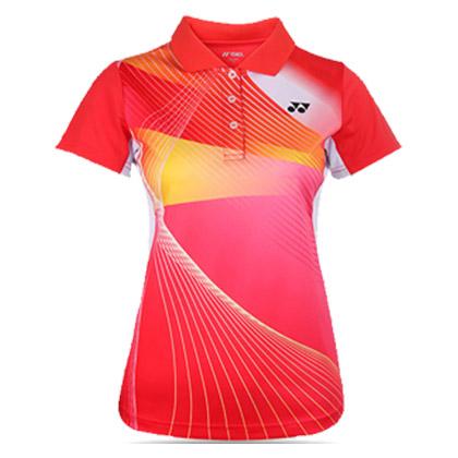 尤尼克斯YONEX 运动 POLO衫  210197BCR 女款 红(496)