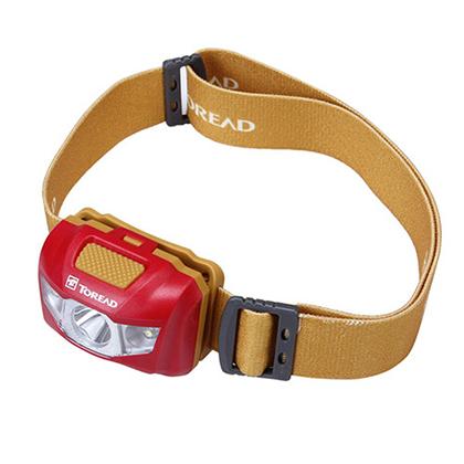 探路者头灯 LED高亮度省电耐用 户外、旅行、野外作业使用 KEJE80531-A46B 法鲁红/岩黄