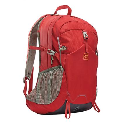 探路者Toread 户外徒步防水背包 28升 TEBD80018-A02B 中国红