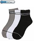 探路者 专业户外男袜3双套装,黑白灰标配 中等厚度!ZELF81113-G01X