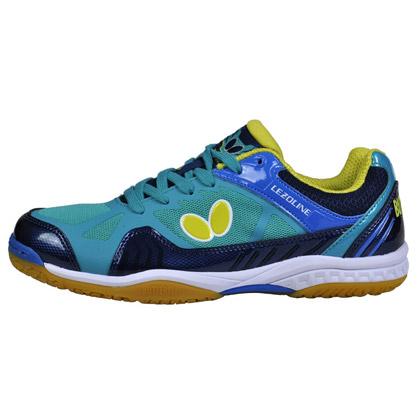 蝴蝶L1乒乓球鞋L-1 Butterfly LEZOLINE-1-0514湖蓝色 断码清仓特惠!
