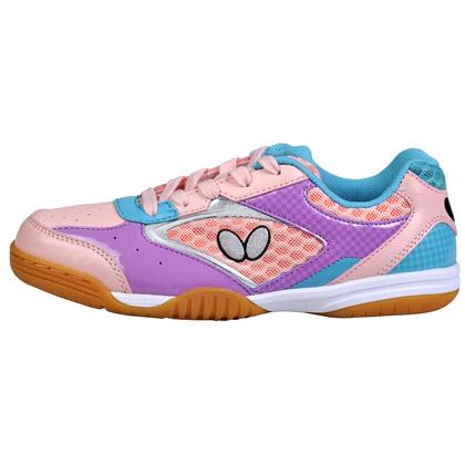 蝴蝶Butterfly乒乓球鞋 CHD-2-16 新款儿童乒乓球鞋 粉红色