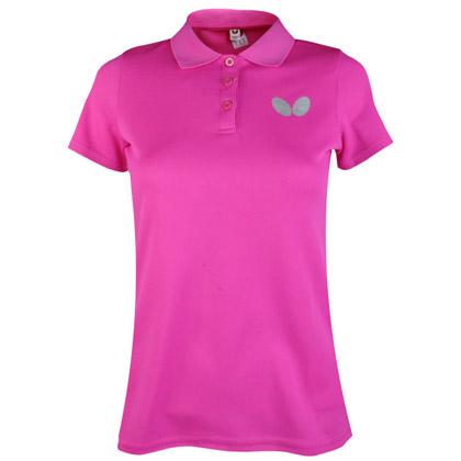 蝴蝶 BWH-272-1-18 乒乓球潮流单色T恤 女款