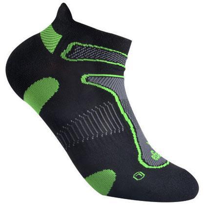 倍佳Balega Ultra Light 马拉松越野跑 超轻跑步船袜 8924-3733 黑色/柠檬绿