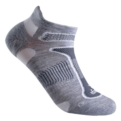 倍佳Balega Ultra Light 马拉松越野跑 超轻跑步船袜 8924-3332 灰色/白色