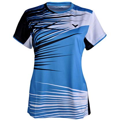 VICTOR胜利T-4100M女款圆领T恤(2014年韩国队比赛服,夏威夷蓝)