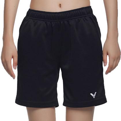 VICTOR胜利 运动短裤R-3196C 女款 羽毛球短裤(纯黑经典,百搭之王)