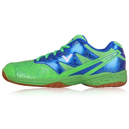 胜利VICTOR羽毛球鞋 SHA180GF 蓝绿色 全面型球鞋轮胎纹橡胶大底,抓地力优秀,宽楦款