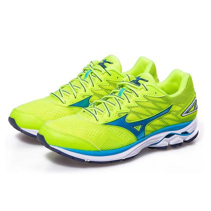 Mizuno/美津浓 男款跑步鞋 WAVE RIDER 20 J1GC170323 荧光绿(顶级缓震跑鞋!)