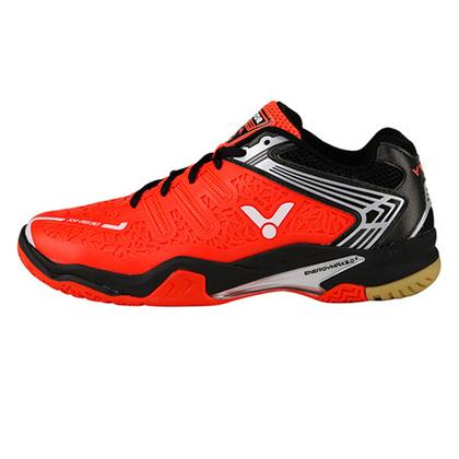 胜利VICTOR羽毛球鞋 A830-OC 荧光橘红/黑(热塑一体成型鞋面,支撑更耐用)