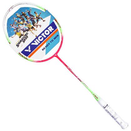 胜利VICTOR羽毛球拍 极速09L 玫红款JS09L-Q,全碳超轻专业羽毛球拍(JS-09L-Q)