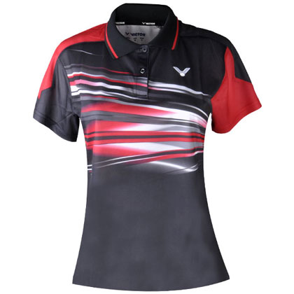 胜利VICTOR 女款短袖T恤 S-5602C 白红黑(吸汗速干!)