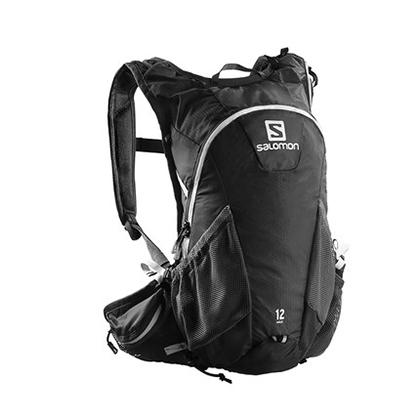 萨洛蒙Salomon 男女款户外越野跑背包 AGILE2 12 SET 黑色